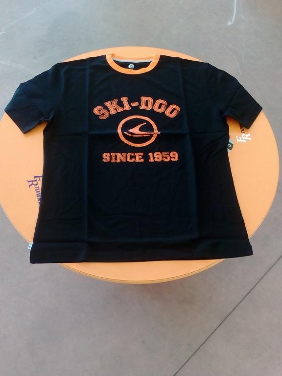 emmeti 4x4 abbigliamento skidoo provincia di torino maglietta nera skidoo bordo arancio (1)
