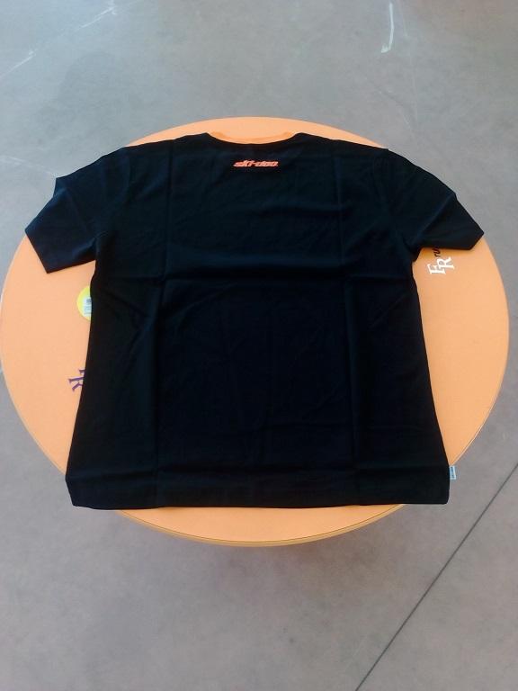 emmeti 4x4 abbigliamento skidoo provincia di torino maglietta nera skidoo bordo arancio (2)