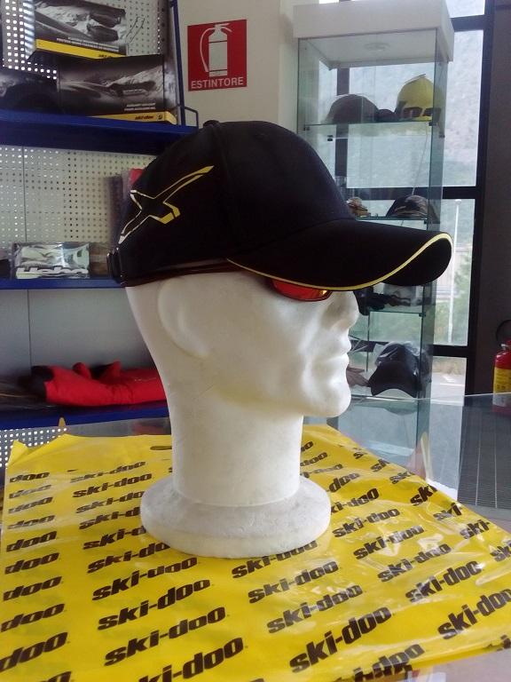 emmeti 4x4 abbigliamento skidoo val di susa cappellino nero bordo giallo (2)