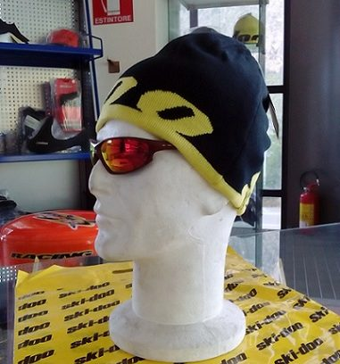 Reversable Beanie Black Yellow