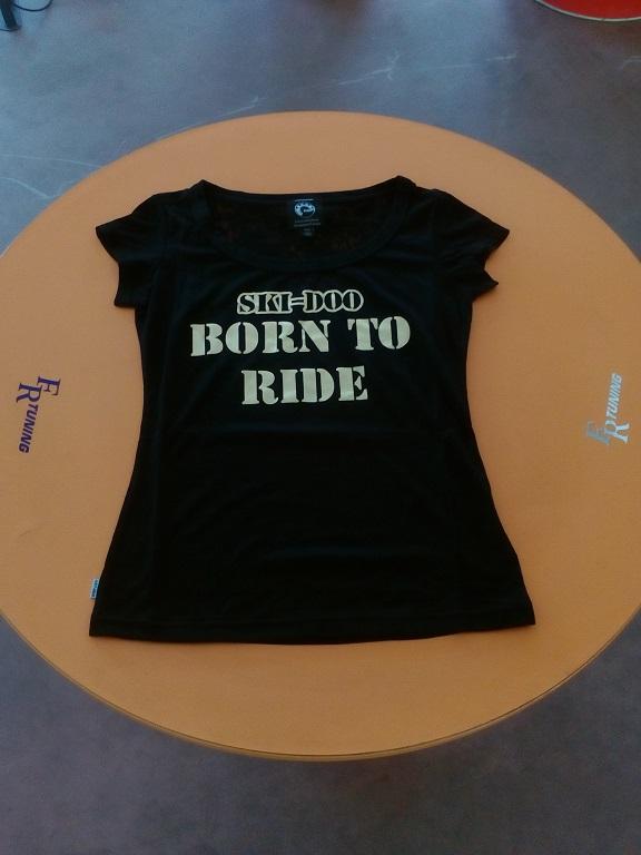 emmeti 4x4 abbigliamneto skidoo provincia di torino maglietta donna born to ride