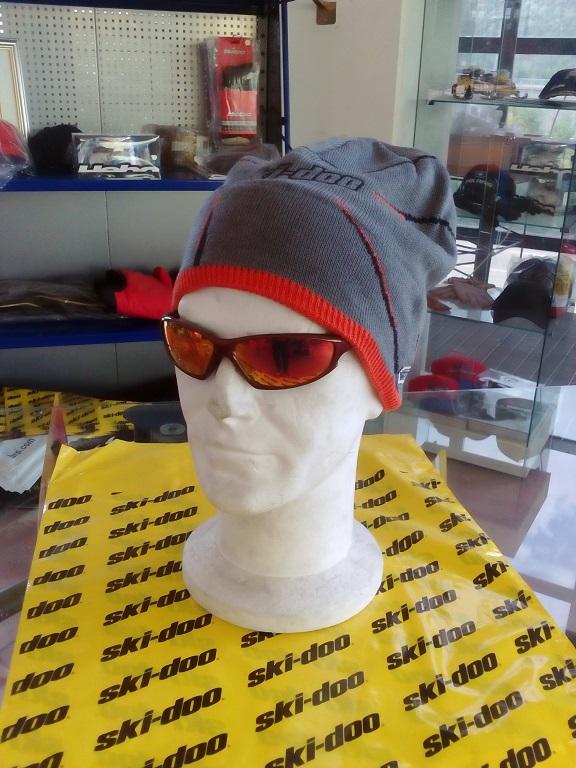 emmeti 4x4 abbigliamneto skidoo val di susa berretto grigio bordo arancio1